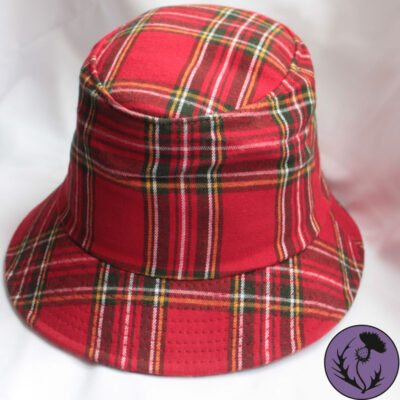 کلاه باکت تارتان رنگ قرمز