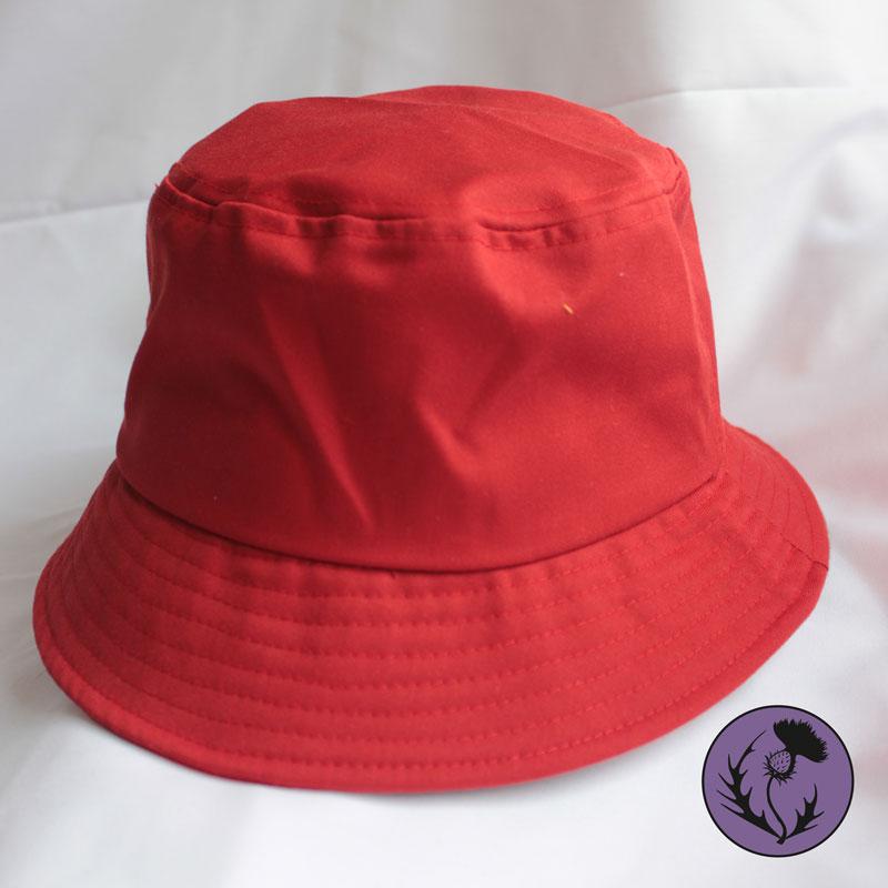 کلاه باکت رنگ قرمز