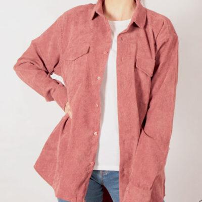 پیراهن کبریتی (اورسایز) رنگ صورتی