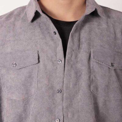 پیراهن کبریتی رنگ طوسی